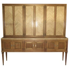 Travertine Door Cerused Credenza Breakfront