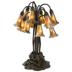 "Tiffany Studios ""Twelve-Light Lily"" Table Lamp"