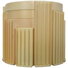 """""""Marema"""" Set of Four Low Stacking Nesting Tables by Gianfranco Frattini"""