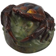 Art Nouveau Paperweight Crab by Amalric Walter