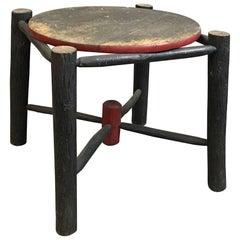Rustic Painted Adirondack Log Table