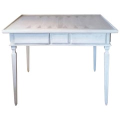 Magnificent Niermann Weeks Game Table with Danish Pearl Hand-Painted Finish