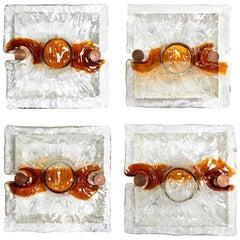 Venini 1970s Glass Sconces