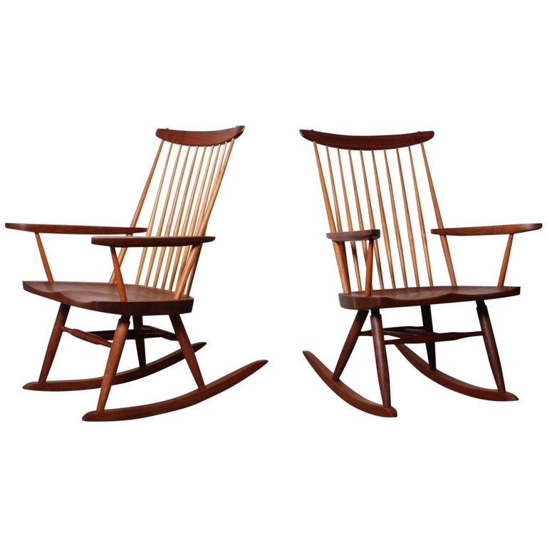 Pair of Rocking Chairs by George Nakashima, 1975