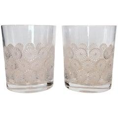 Lalique 'Napsbury' Cocktail Glass, Pair