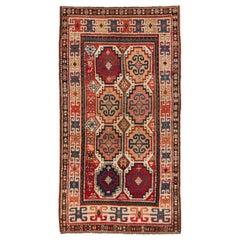 Antique Caucasian Moghan Kazak Rug, circa 1875