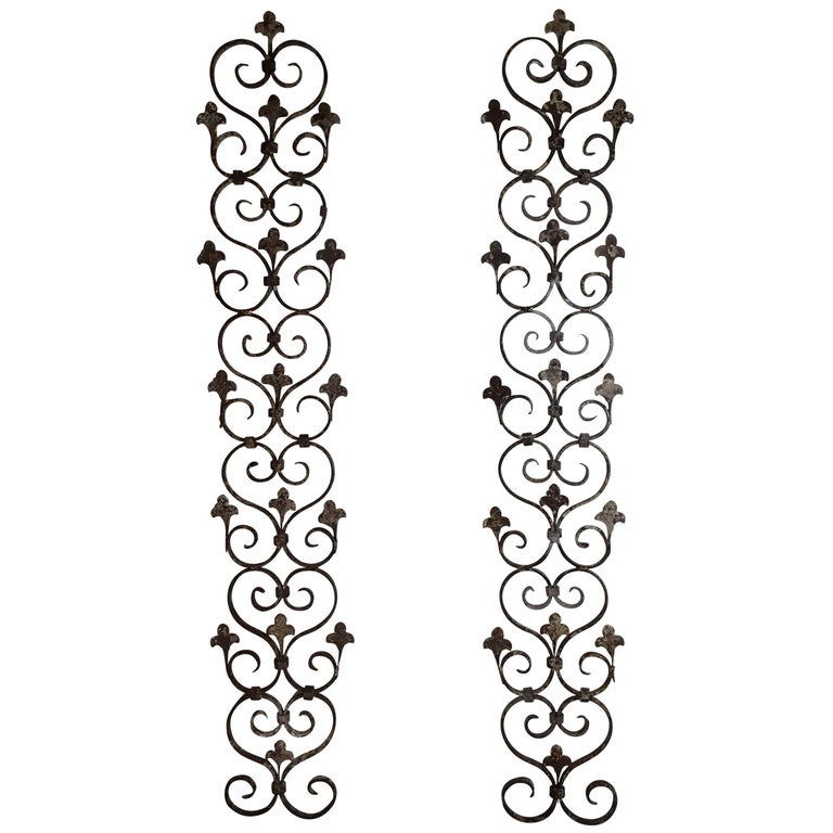 Pair of Wrought Iron Wall Hanging