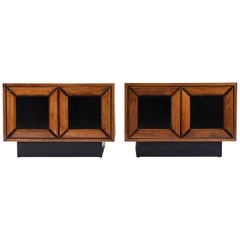 Pair of Mid-Century Modern Cube Nightstands