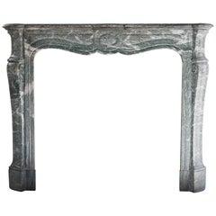 Antique Marble Fireplace, Pompadour style from Paris