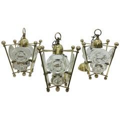 Set of Three Mid-Century Modern Gaetano Sciolari Pendants