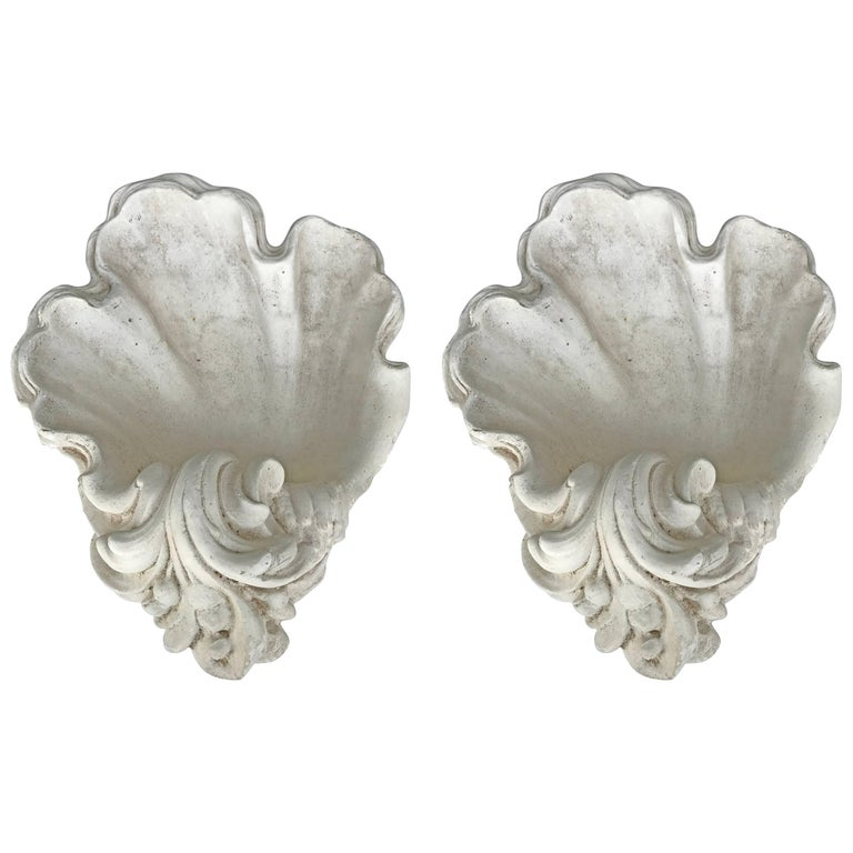 Pair of Serge Roche Style Plaster Sconces