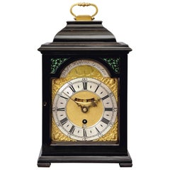18th Century Antique George II Ebonized Bracket Clock by William Kipling, London