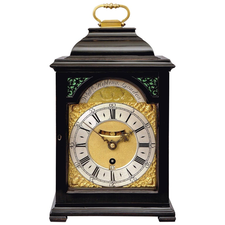 George II Ebonized Bracket Clock by William Kipling, London