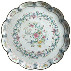 18th Century Canton Enamel Charger