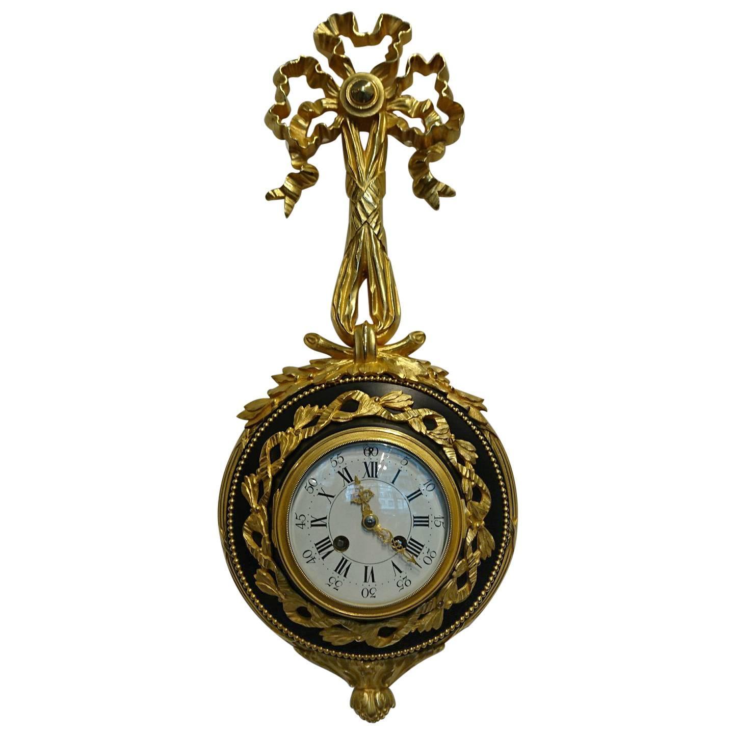 french ormolu and patinated cartel clock by smarti paris circa