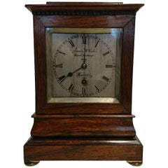 Early 19th Century Rosewood Library Clock by James McCabe, London, circa 1825