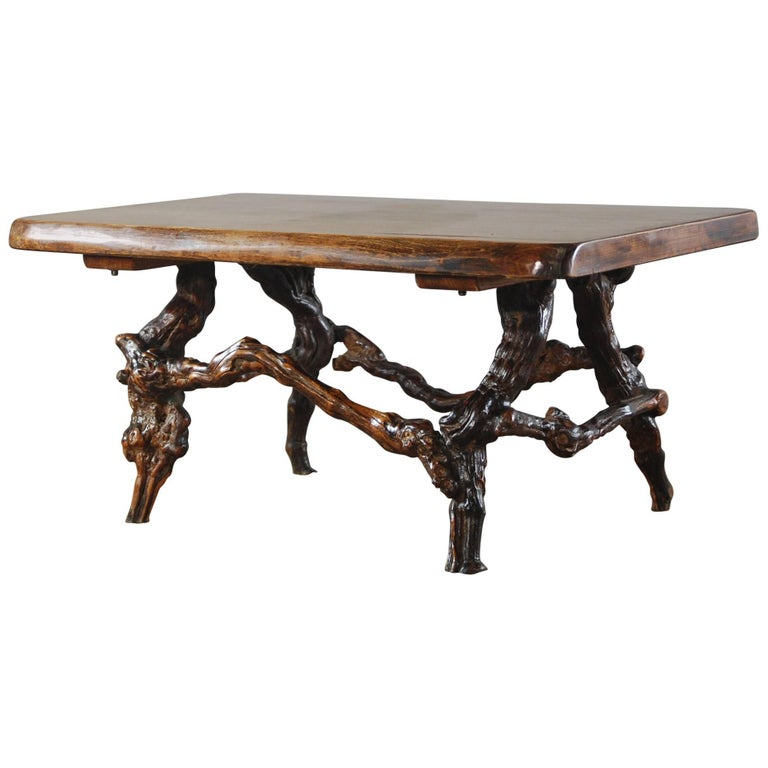 20th century french vine leg coffee table for sale at 1stdibs for Table and vine