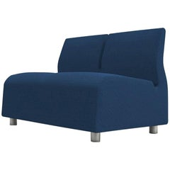 Two seater Conversation Upholstered Blue Sofa Satyendra Pakhale 21st Century