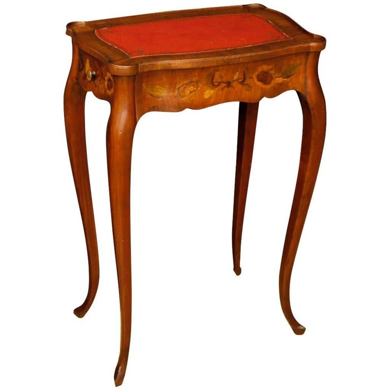 20th Century French Inlaid Side Table