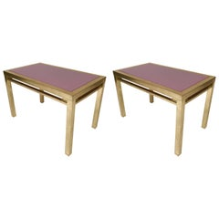 Pair of Lacquered Side Tables by Maison Jansen, France, 1970s