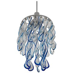 Rare Murano Glass Ceiling Light Chandelier by Mazzega, Italy, 1960s