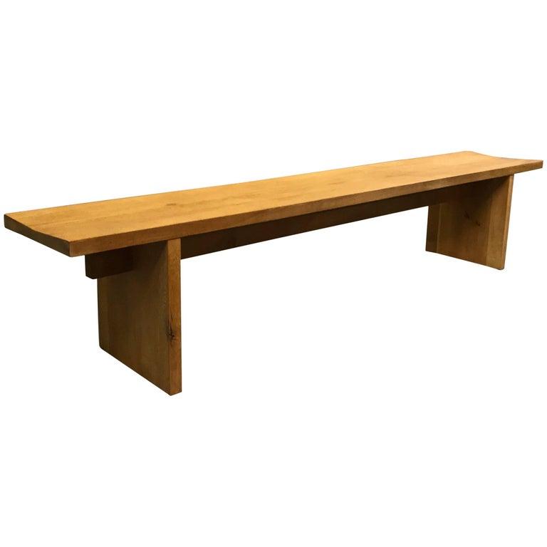 Minimal Craftsman Made Oak Bench