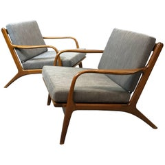 Pair of Adrian Pearsall for Craft Associate Maple Lounge Chairs Model 2315-c