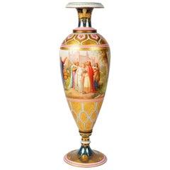 19th Century Vienna Porcelain Vase