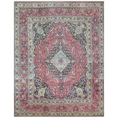 Fine Antique Persian Khorassan Oversized Mashad Rug