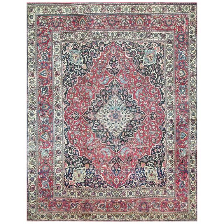 Fine Antique Persian Khorassan Oversized Mashad Rug