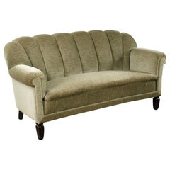 1940s French Upholstered Sofa