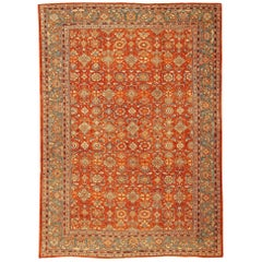 Rust Color Persian Antique Sultanabad Rug