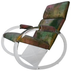 Charles Hollis Jones Lucite Rocking Chair