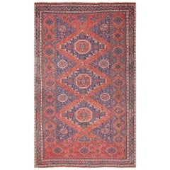 Tribal Antique Caucasian Soumak Rug. Size: 8 ft x 12 ft 6 in (2.44 m x 3.81 m)