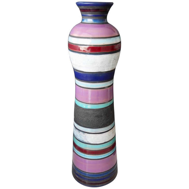 Tall Bitossi/Raymor Cambogia Vase, Ettore Sottsass, 1950s For Sale