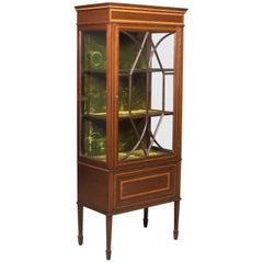 Antique Glazed Display Cabinet, Mahogany, Edwardian, English, circa 1910