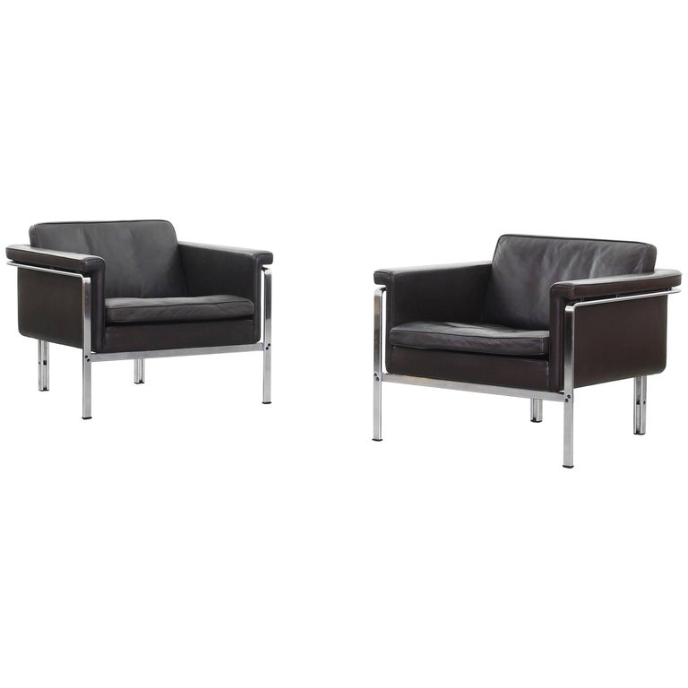 Beautiful Pair of Lounge Chairs by Horst Bruning for Alfred Kill International For Sale