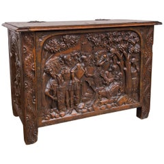 17th Century French Chestnut Lift Top Coffer