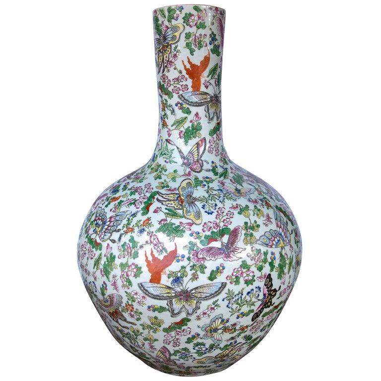 Large Chinese Bottle Form Vase