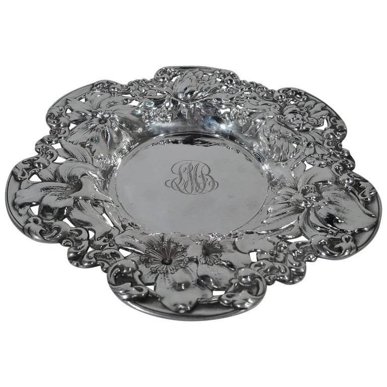 Antique American Sterling Silver Flower Bowl By Gorham For