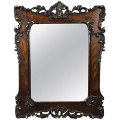 Antique Wall Mirror in Oak Frame, Late Victorian, English, circa 1890