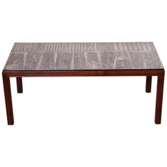 Etched Top Italian Coffee Table