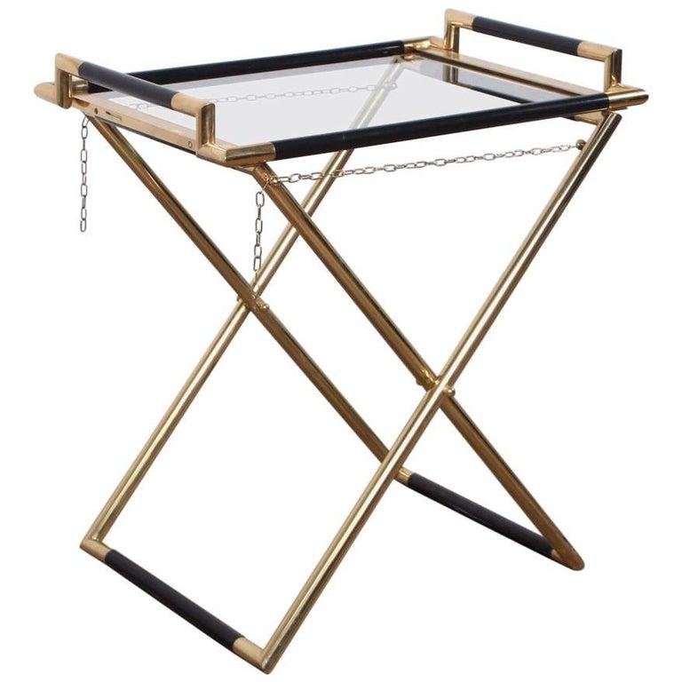 Italian Folding Tray Table in Brass