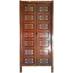 Old Moroccan Decorative or Functional Door, Multi-Color
