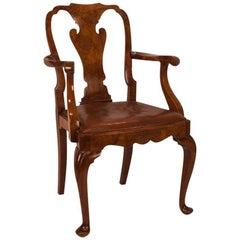 George II Style Walnut Armchair, England, circa 1880