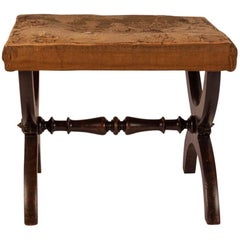English Regency Rosewood Bench on 1/2 Circle Joined Legs, circa 1825