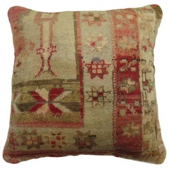 Red Turkish Sivas Rug Pillow