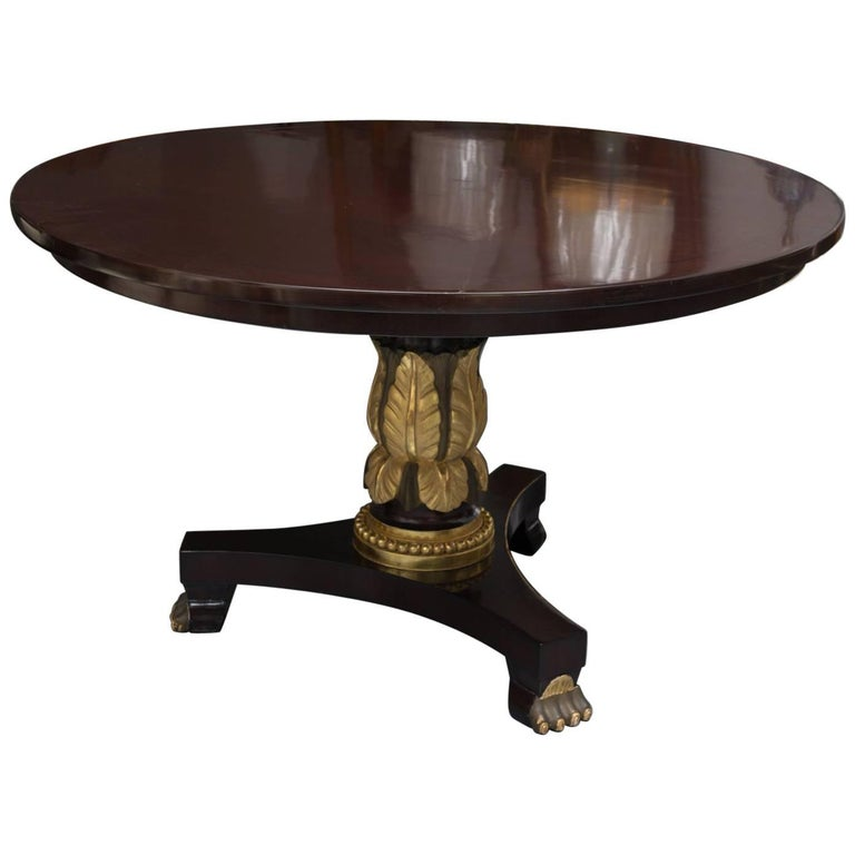 Mahogany Regency Style Center Table For Sale