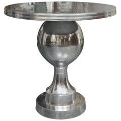 Stainless Steel Circular Pedestal Table