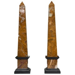 Pair of Marble Obelisques